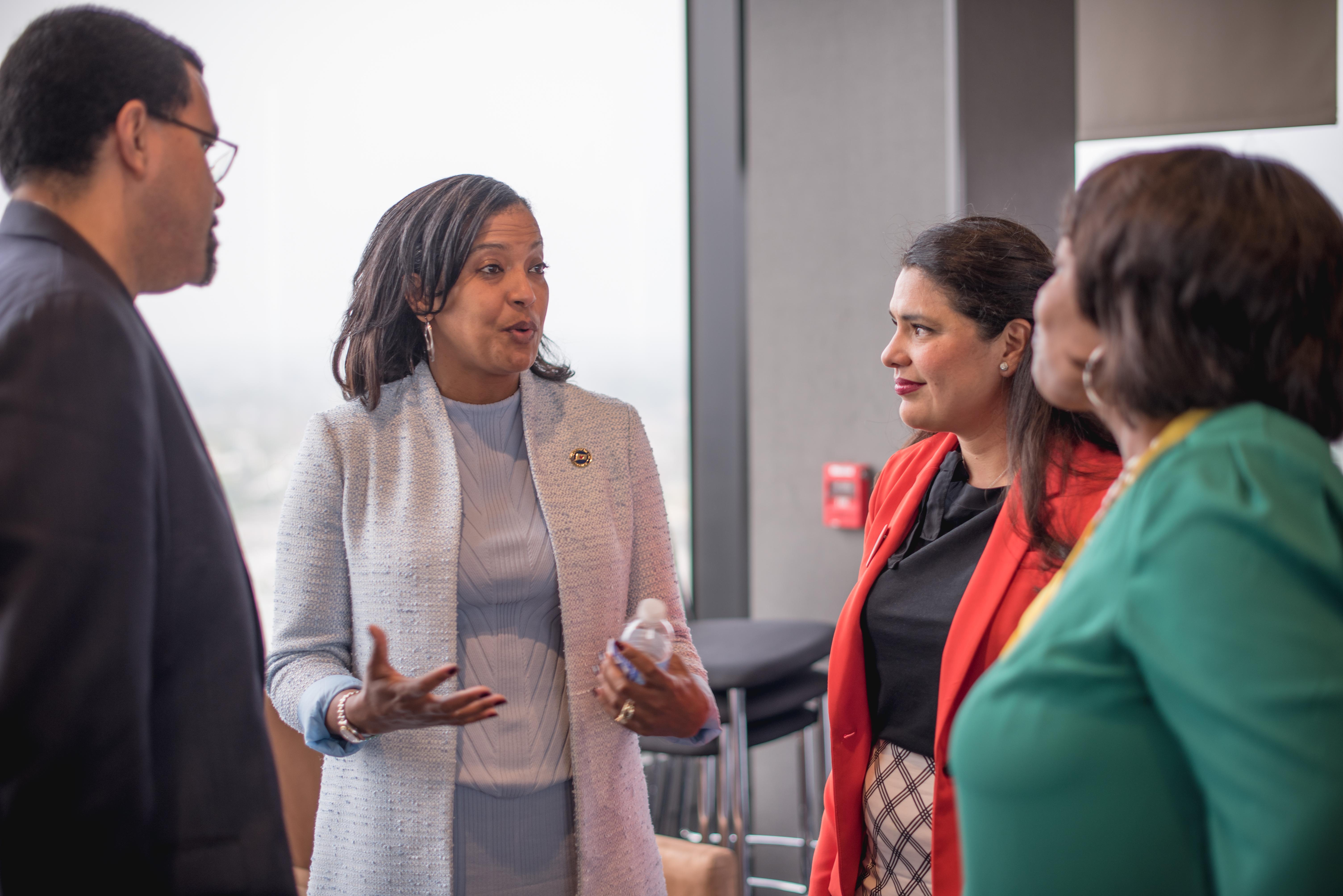 Former U.S. Secretary of Education John King, Congresswoman Jahana Hayes, Secretary-Treasurer of the Texas AFL-CIO Montserrat Garibay, and Former Chancellor of DC Public Schools, Kaya Henderson