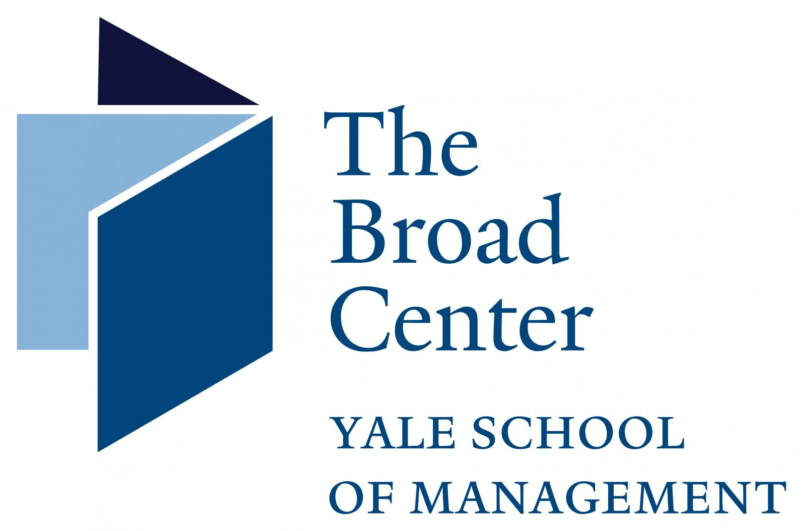 The Broad Center at Yale School of Management Logo