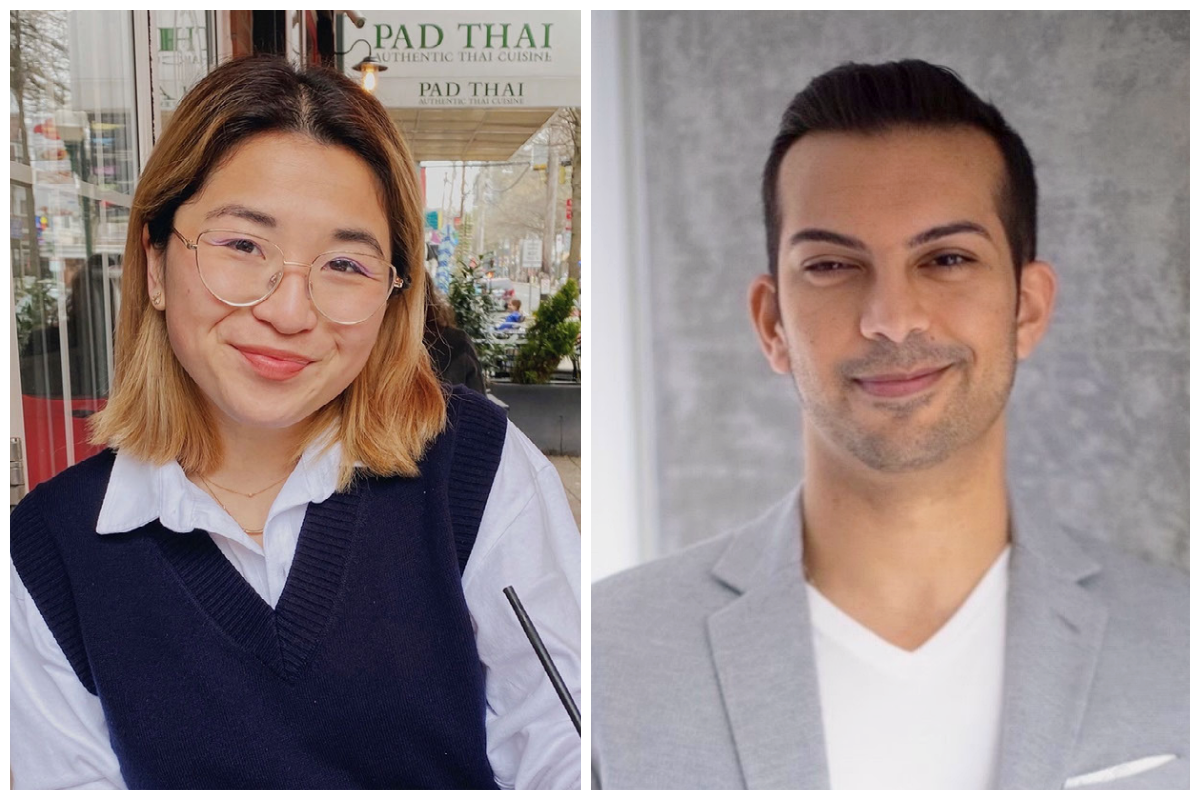 side-by-side headshots of Alice Yuan and Mahir Bhagat