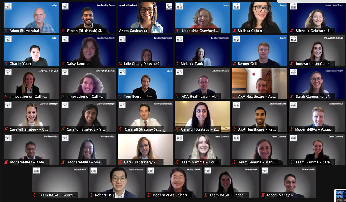 A screenshot of the 2020 Yale Healthcare Services Innovation Case Competition