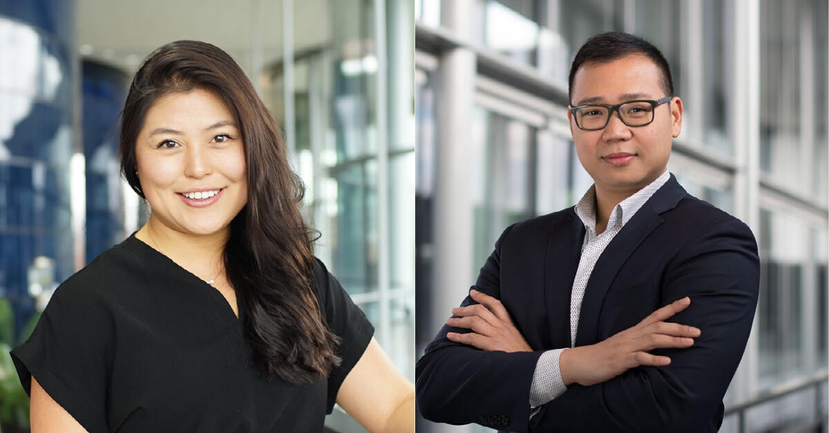 Betty Tang '21 and Thu Ra '20 headshots side by side