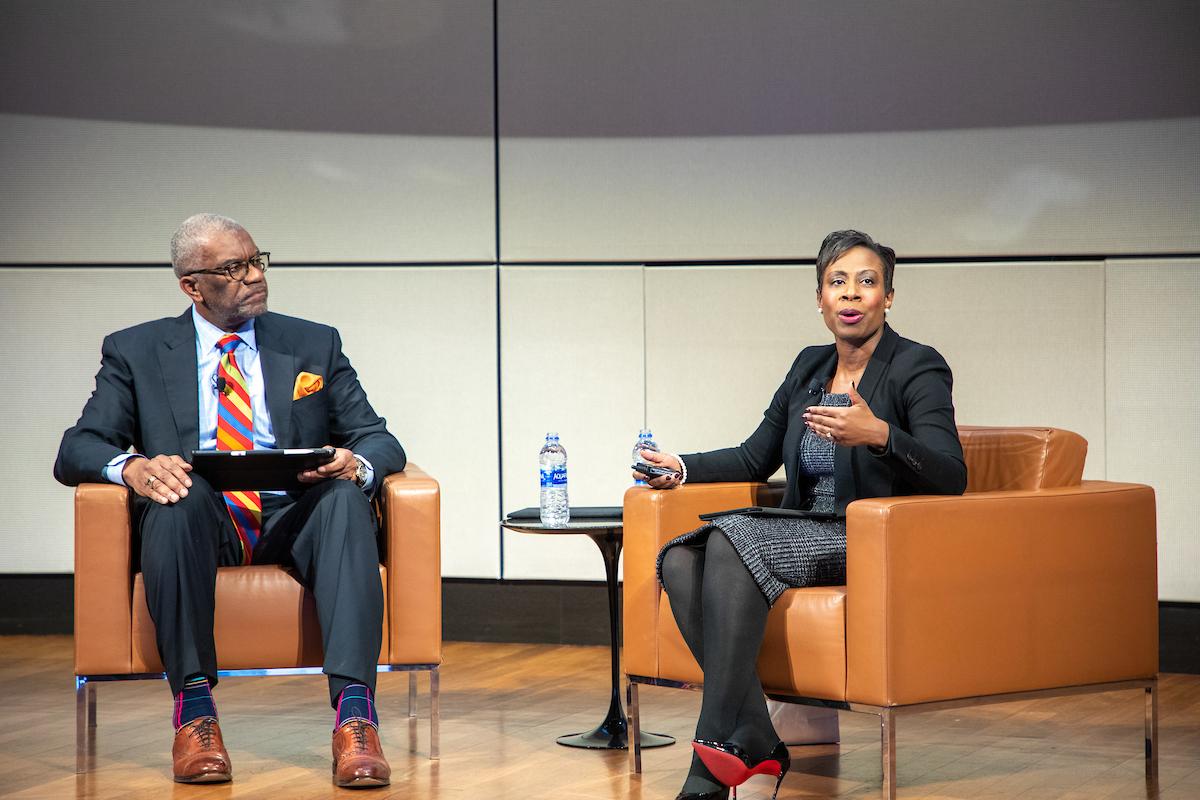Dr. Eugene Flood and Jamila Abston '17