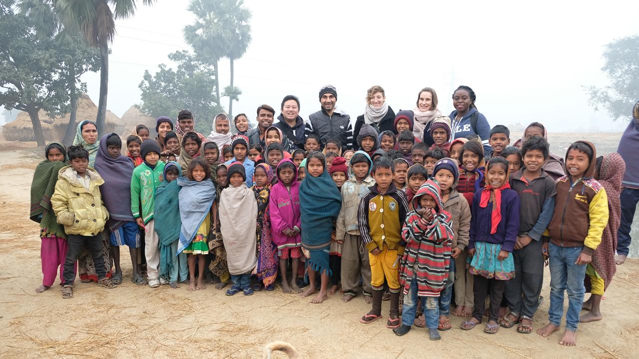 Four SOM students traveled to Bihar, India to work with their partner organization, i-Saksham.