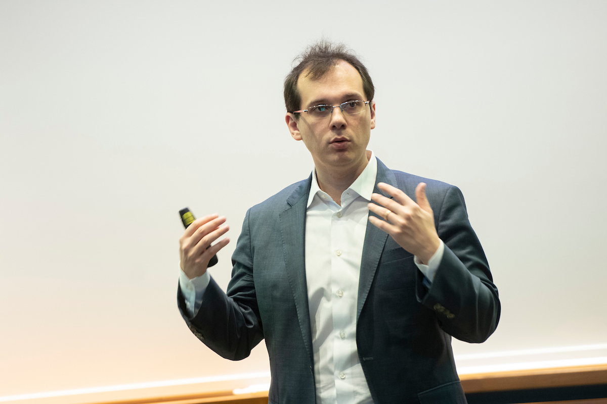 Professor Stefano Giglio teaching