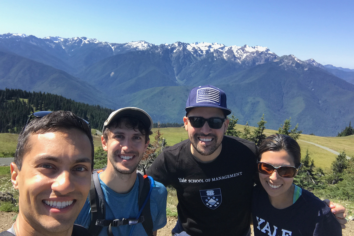 Hiking at Olympic National Park with some SOM classmates who were also in the Seattle area for internships