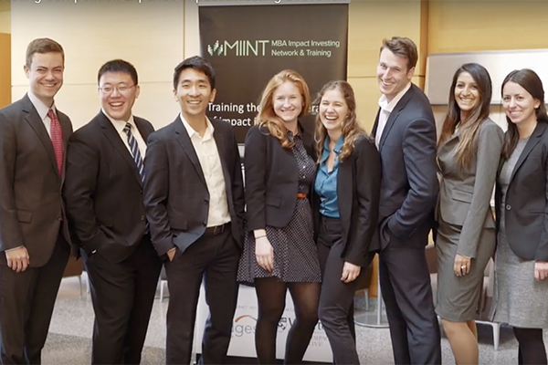 Yale SOM MIINT team participants at the 2017 Wharton MIINT Conference. Photos courtesy of Kate Murphy '18