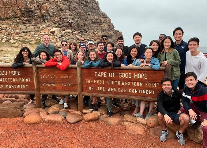 International Experience Course in South Africa at Cape of Good Hope. Photo: Nitya Kanuri '20