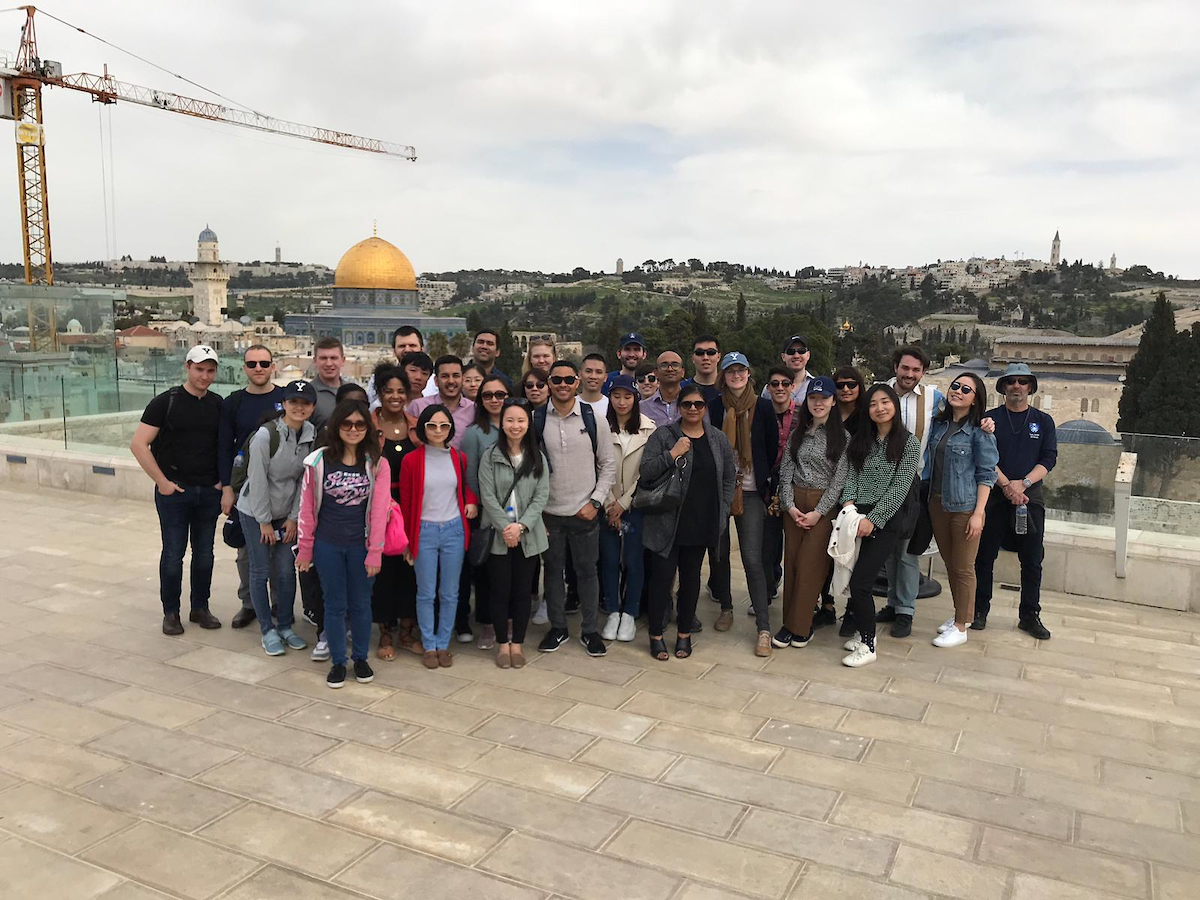 Group photo in Old City Jerusalem
