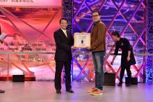 Saphlux co-founder Chen Chen '16 at the Fortune China Innovation Award Competition at the Fortune Global Forum
